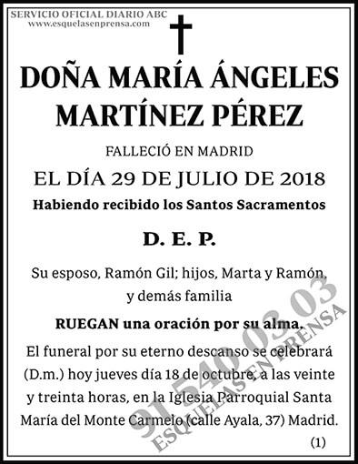 María Ángeles Martínez Pérez
